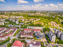 Lublin - photos of the drone. District Czuby seen from the air. Royalty Free Stock Images