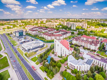 Lublin - photos of the drone. District Czuby seen from the air. Stock Photography