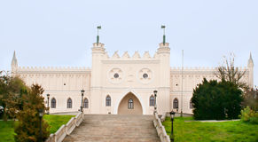 Lublin, Poland. The view from the old town to the castle Royalty Free Stock Photo
