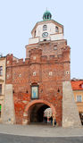 Lublin, Poland. Tower and the entrance under the tower in the old town Stock Images