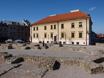 Po Farze Square, Lublin, Poland Stock Image