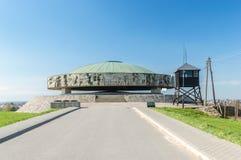 The Mausoleum in Majdanek concentration camp. Lublin, Poland - April 14, 2018: The Mausoleum in Majdanek concentration camp. Mausoleum erected in 1969 contains stock photos