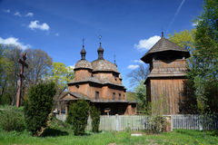 LUBLIN, POLAND - APRIL 27: Old eastern orthodox church in the op Stock Photos