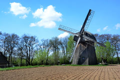 LUBLIN, POLAND - APRIL 27: Windmill in the open-air museum of lu Stock Photography