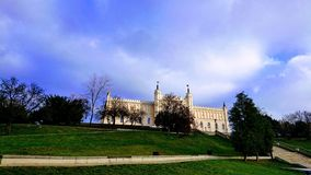 Lublin Poland. Castle Blue gras royalty free stock image