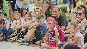Crowd Watches Street Performance of Mantega Juggler Royalty Free Stock Image