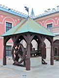Lublin, Polen, goed in het kasteel Royalty-vrije Stock Foto's