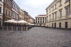 LUBLIN, Polen-25 juni 2017 - oude stad cente Stock Fotografie