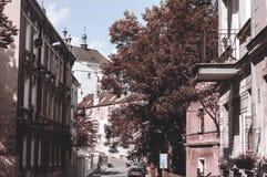"""LUBLIN, Polen-25 juni 2017 - Straat van Å de"""" migrà ³ D Stock Afbeeldingen"""