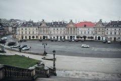 Lublin Polen sikten av slottområdet från slotten arkivbilder