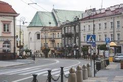 LUBLIN, POLOGNE 10 juillet 2017 - Lublin du centre Photo libre de droits