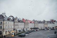 Lublin, Pologne la vue du secteur de château du pont Photo stock