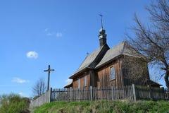 LUBLIN POLSKA, KWIECIEŃ, - 27: Stary kościół w na otwartym powietrzu muzeum Obrazy Royalty Free