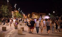 LUBLIN POLSKA, LIPIEC, - 27, 2018: Ulicy i architektura stary miasto Lublin w wieczór zdjęcie stock