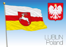 Lublin regional flag, Poland Stock Photography