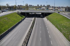 Lublin road junction Stock Photo