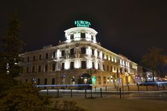 Lublin's hotels view Royalty Free Stock Photography