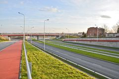 Lublin S17-S12 by-pass view Royalty Free Stock Photos