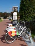 Lublin stads- cykelhyra Fotografering för Bildbyråer