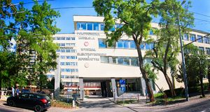 Lublin-technische Hochschule, Politechnika Lubelska lizenzfreies stockbild