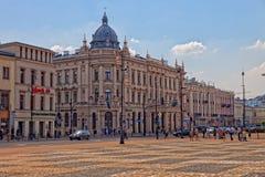 Lublin - Uliczna scena Fotografia Royalty Free
