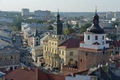 Lublin - widok od above obraz royalty free