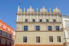 Lublino, Polonia - vecchia casa in affitto nel quadrato del mercato Immagine Stock Libera da Diritti