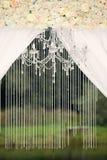 Ślubna dekoracja na naturze Zdjęcia Royalty Free