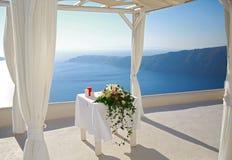 Ślubna dekoracja na Santorini Obraz Royalty Free