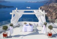 Ślubna dekoracja na Santorini Obraz Stock