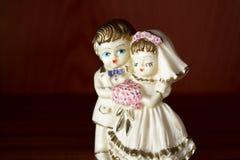 Ślubna figurka Zdjęcia Royalty Free
