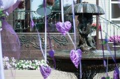 Ślubna fontanna Zdjęcia Stock
