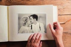 Ślubna fotografia Zdjęcie Stock