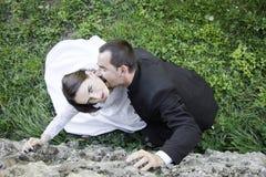 Ślubna para zdjęcia royalty free