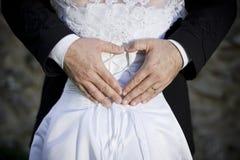 Ślubna para obrazy royalty free