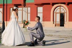 Ślubna para Fotografia Royalty Free