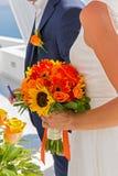 Ślubna para w Grecja Zdjęcia Stock