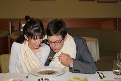 Ślubna polewka Zdjęcie Royalty Free