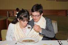 Ślubna polewka Zdjęcie Stock