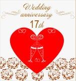 Ślubna rocznica Invitation Obraz Royalty Free