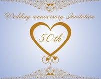 Ślubna rocznica Invitation.Vector Zdjęcie Royalty Free