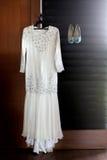 Ślubna suknia & buty Fotografia Stock