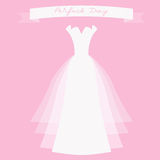 Ślubna suknia z faborkiem Obraz Stock