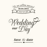 Ślubna typografia Obrazy Royalty Free