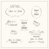 Ślubna typografia Obraz Royalty Free