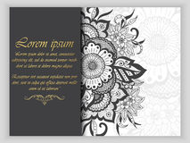 Ślubna zaproszenia i zawiadomienia karta z ornamentem w Arabskim stylu Arabesku wzór Wschodni etniczny ornament Obraz Royalty Free