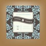 Ślubna zaproszenia lub zawiadomienia karta Fotografia Stock