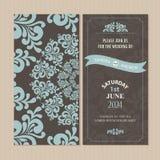 Ślubna zaproszenia lub zawiadomienia karta Zdjęcie Royalty Free