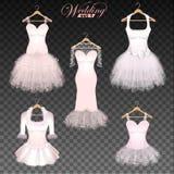 Ślubne suknie Ilustracja Wektor
