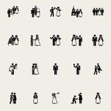 Ślubne wektorowe ikony Obrazy Royalty Free